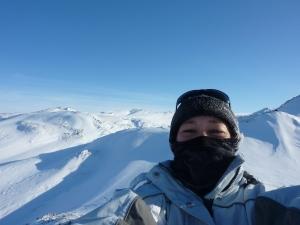 Marina Aagaard foto På Grønland ved indlandsisen
