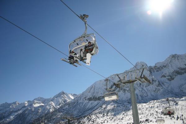 Gondelturen op lige inden skiløb