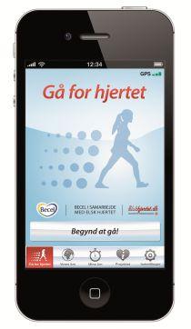 Gå for hjertet app til gang og løb