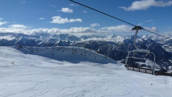 Holiday on Snow Ski lift and mountains Sauze d'Oulx Sestriere Photo Henrik Elstrup