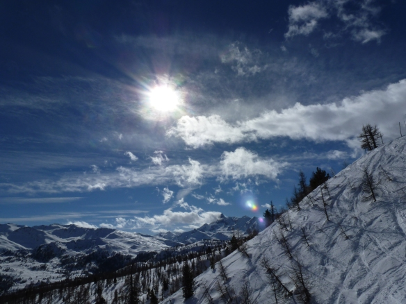 Sestriere skiing trip off-piste tracks photo Henrik Elstrup
