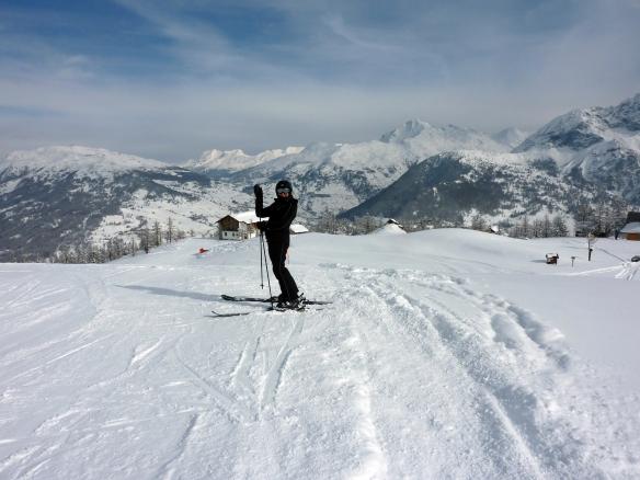 Sestriere skiing holiday Marina Aagaard is high photo Henrik Elstrup