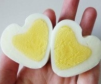 Hjerte-æg æg formet som hjerter Ukendt kilde