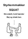 Cirkeltræning Circuit planche makker squat Træningsbog