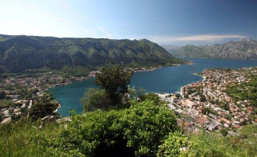 M Kotor udsigt fra bjerg