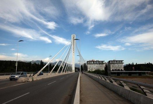 Montenegro Podgorica Milenijum bridge Henrik Elstrup