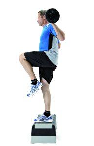 Step op styrketræning funtionel træning