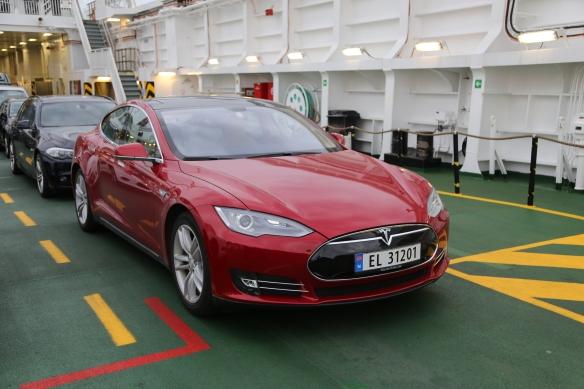 Tesla el-bil i Norge EL nummerplade foto Marina Aagaard