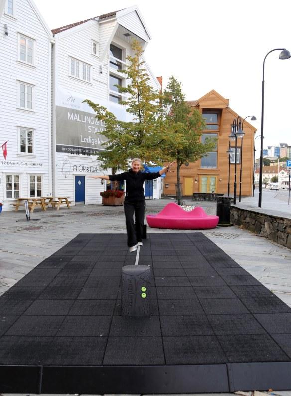 Marina Aagaard motion på slackline foto Henrik Elstrup