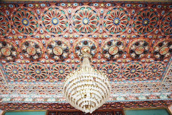 Tunesien Gafsa Hotel Jughurta Palace ceiling Marina Aagaard fitness blog