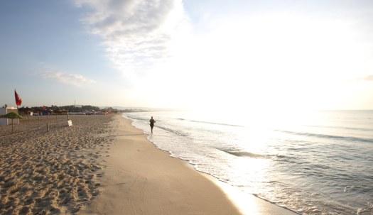 Tunesien morgenløb strand Marina Aagaard fitness blog