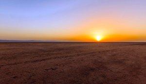 Tunesien Saltsø sol oppe