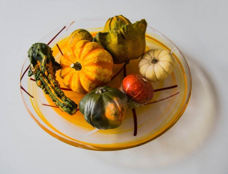 Pumpkins_glass_plate_Græskar_Marina_Aagaard_blog
