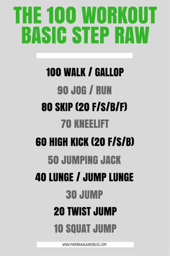 100_workout_basic_step_raw_fitness_Marina_Aagaard_blog